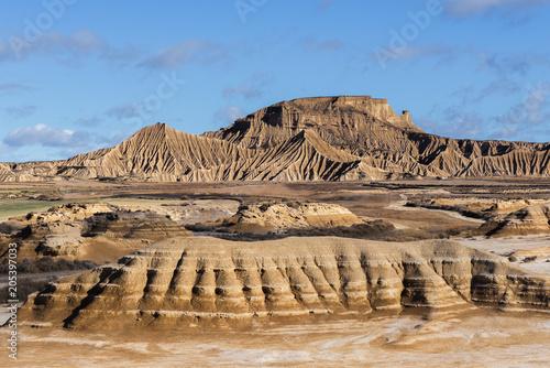 Zdjęcie XXL Badlands w Bardenas Reales, Navarre, Hiszpania