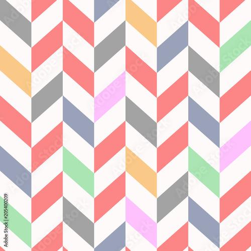 colorful Seamless chevron pattern, beautiful vector illustration Wallpaper Mural