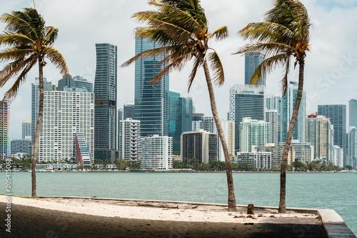 In de dag Abu Dhabi Downtown Miami Skyline