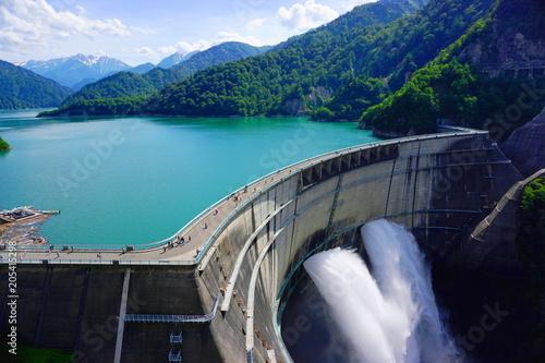 Photographie kurobe dam, Kurobe alpine, Japan