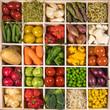 Verschiedene Gemüsesorten in einem Setzkasten angeboten