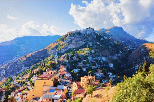 Mountain in Taormina Sicily фототапет