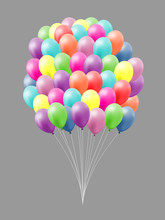 Happy Colorful 3d Balloons