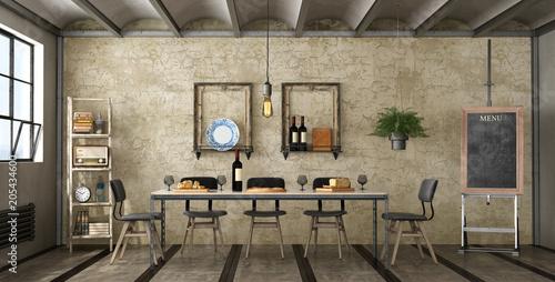 Fotografía  Dining room in a loft