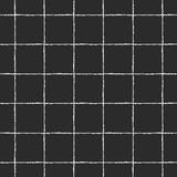 Czarno-biały w kratkę, kwadrat, kratki, kraty wektor wzór. Pionowe i poziome cienkie białe paski pędzla na czarnym tle. Kratkę monochromatyczne geometryczne tło. Szorstkie krawędzie. - 205439823