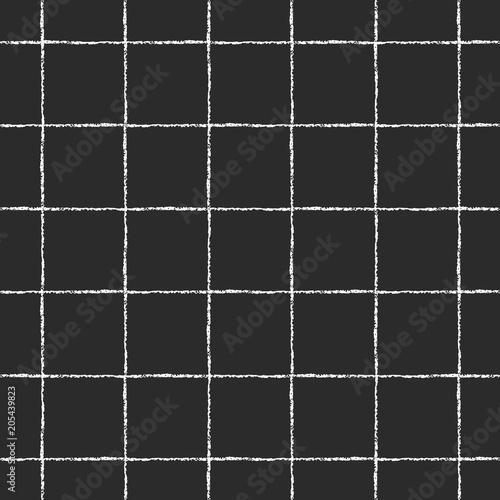 Black And White Checked Square Plaid Lattice Vector
