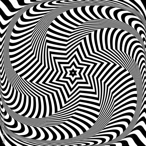 Photo Abstract op art design. Illusion of torsion movement.