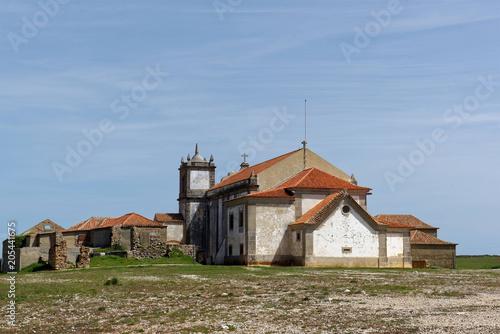 Fotografie, Obraz  Eglise du Sanctuaire de Nossa Senhora, cap Espichel, Sesimbra, Setúbal, Portugal