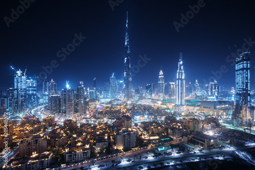 Fototapeta premium Dubai skyline, United Arab Emirates