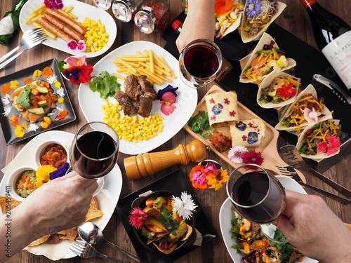 Fotografie, Obraz  ワインで乾杯するパーティーイメージ