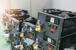 equipment of electrical switchgear panel take off for maintenance shutdown.
