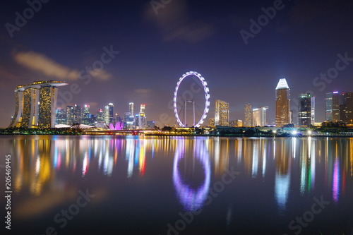 Photo  Singapore city skyline