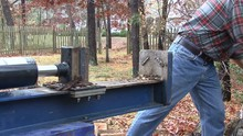 Using Hydraulic Log Splitter
