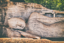 Recumbent  Buddha Statue At Th...