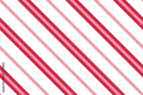 fototapeta na lodówkę Seamless pattern. Pink-red Stripes on white background. Striped diagonal pattern For printing on fabric, paper, wrapping