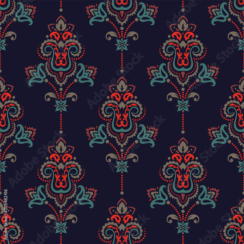 Cotton fabric Seamless paisley pattern