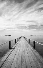Black And White Landscape Of W...