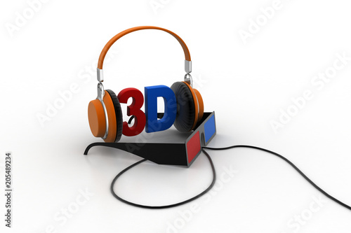 3d songs concept - Buy this stock illustration and explore similar
