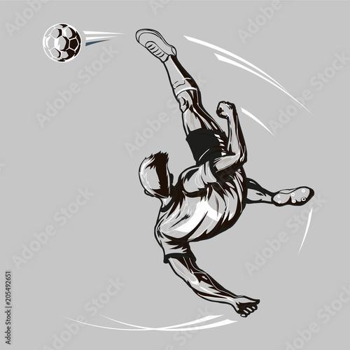 Fototapeta  Soccer player overhead kick
