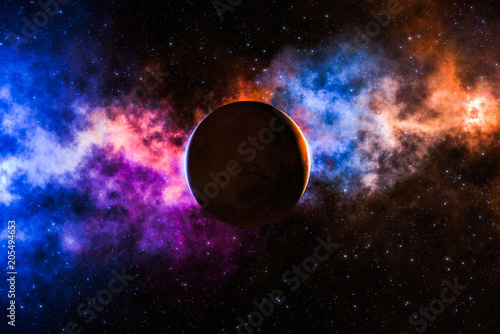 High definition star field background. Colorful night space stars glowing. Universe filled with stars, nebula and galaxy.