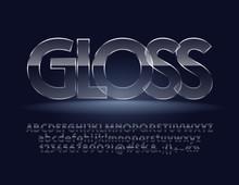Glass Font. Gloss Vector Alpha...