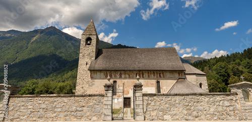 Foto op Canvas Historisch geb. Church of San Vigilio - Pinzolo Trentino Italy