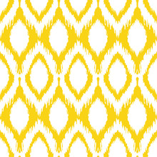 Seamless Ikat Pattern In Yello...