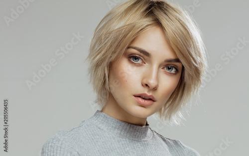 Fototapeta Beauty portrait of female face with natural skin obraz
