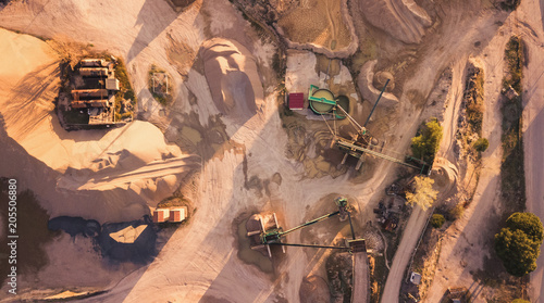 Above industrial zone in desert
