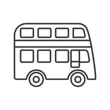 Double Decker Bus Linear Icon