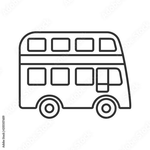 Foto Double decker bus linear icon