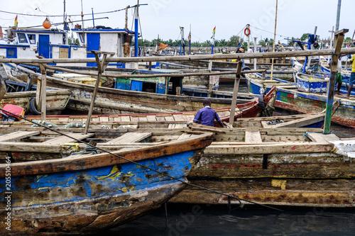 Sekondi harbour boats