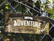 Rustic sign on a gate mockup