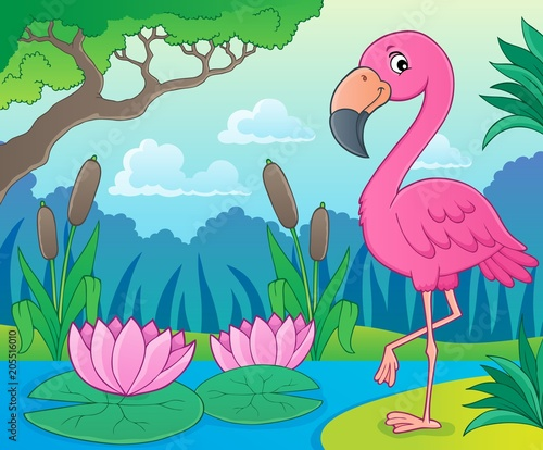 Papiers peints Enfants Flamingo topic image 4