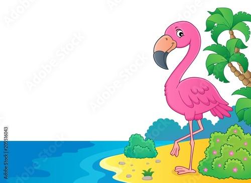Foto op Canvas Voor kinderen Flamingo topic image 6