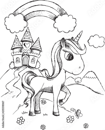 Poster Cartoon draw 7648_SketchUnicorn