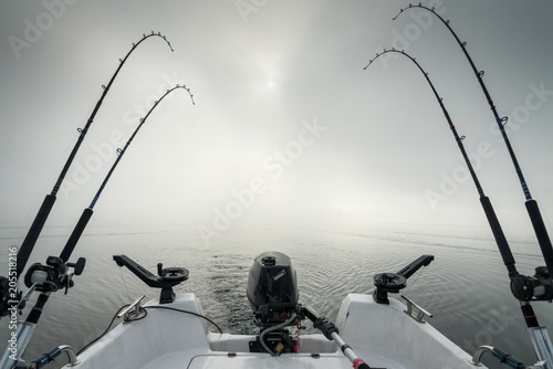 Morning fishing scenery