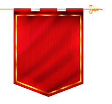 Medieval Style Red Flag Hangin...