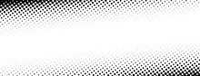 Black And White Dotted Halftone Banner.