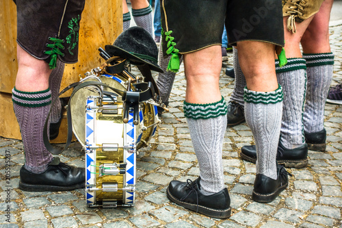Fotografie, Obraz  part of a typical bavarian musician