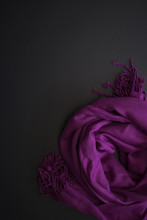 Purple Shawl On The Black Back...