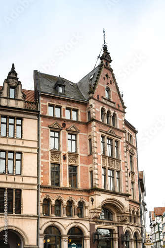 Deurstickers Brugge HANNOVER, GERMANY- March 13, 2018 : Street view of downtown in Hannover, Germany.