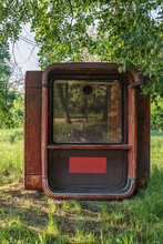 Abandoned Fast Food Red Kiosk ...