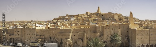 Panoramic view of Ksar Bounoura, one of the five cities making up what is referr Canvas Print