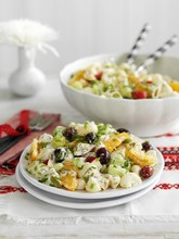 A Fruity Pasta Salad With Olives