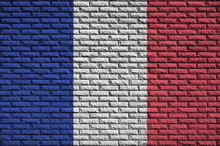 France Flag Is Painted Onto An...