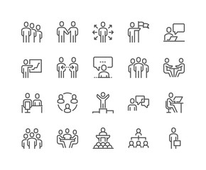 Line Business People Icons