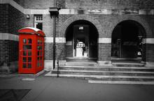 Black And White Street Scene W...