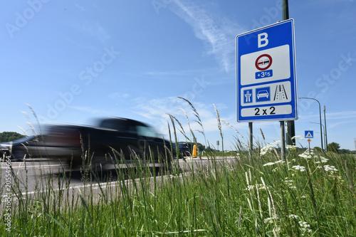 Valokuva  Frontiere pays europe panneau signalisation Belgique