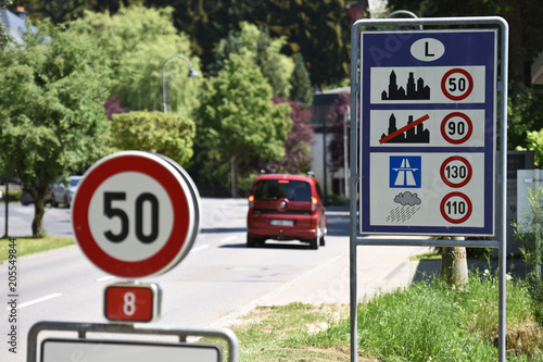 Frontiere pays europe panneau signalisation luxembourg Canvas-taulu